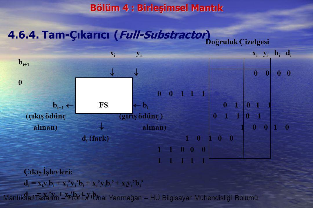 4.6.4. Tam-Çıkarıcı (Full-Substractor)