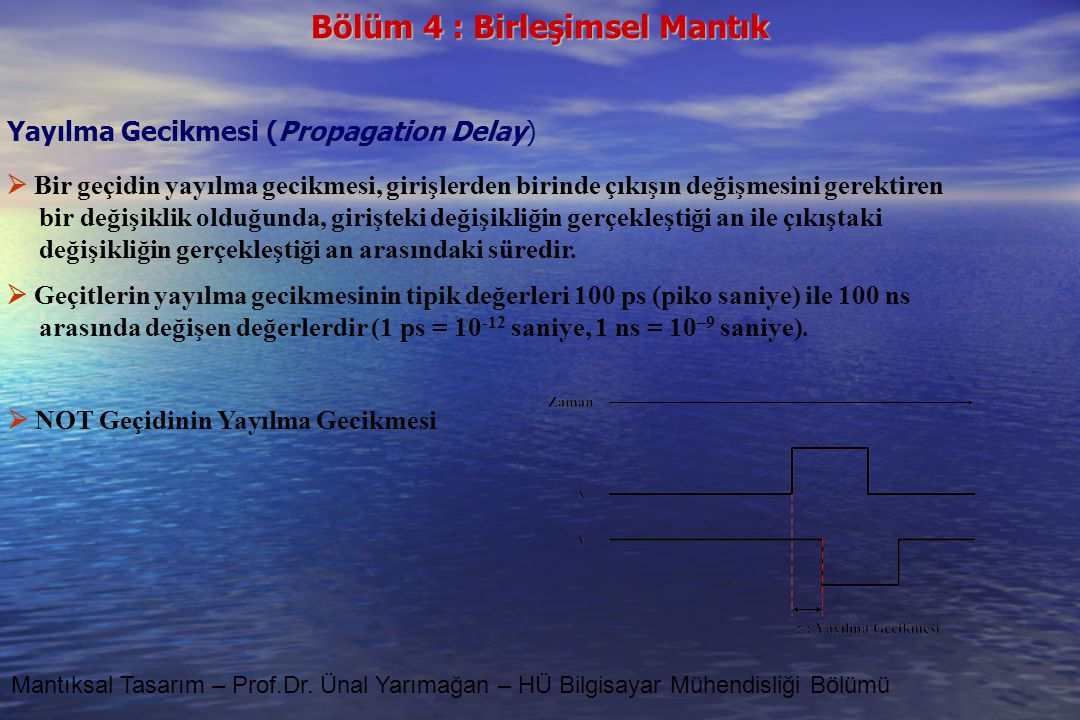 Yayılma Gecikmesi (Propagation Delay)