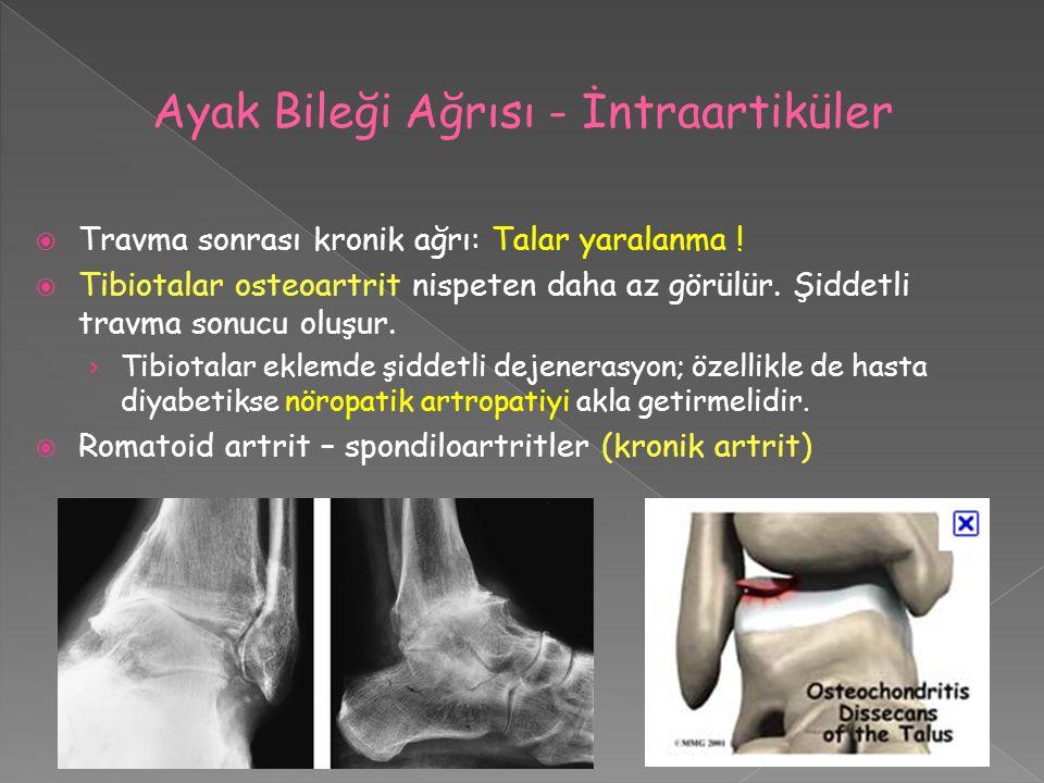 Ayak Bileği Ağrısı - İntraartiküler
