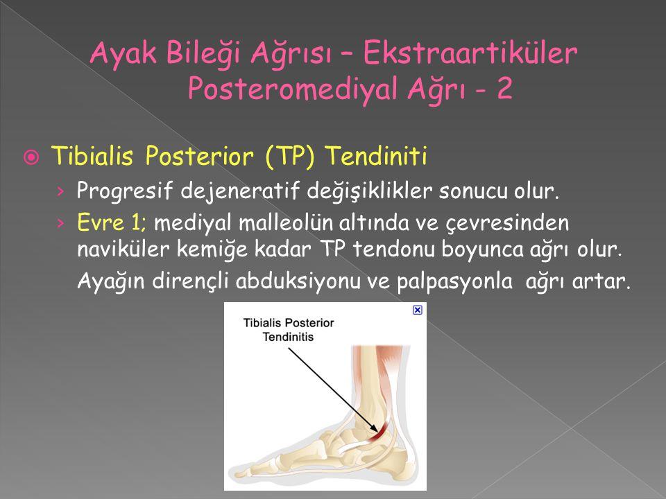 Ayak Bileği Ağrısı – Ekstraartiküler Posteromediyal Ağrı - 2