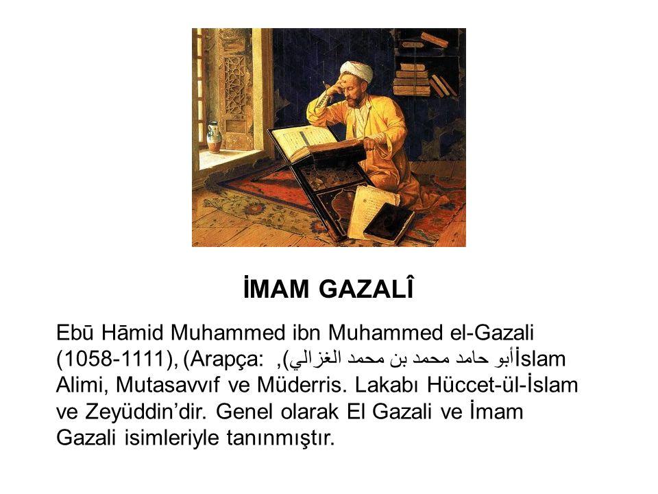 İMAM GAZALÎ