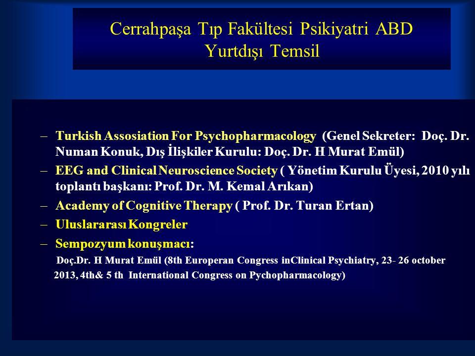 Cerrahpaşa Tıp Fakültesi Psikiyatri ABD Yurtdışı Temsil