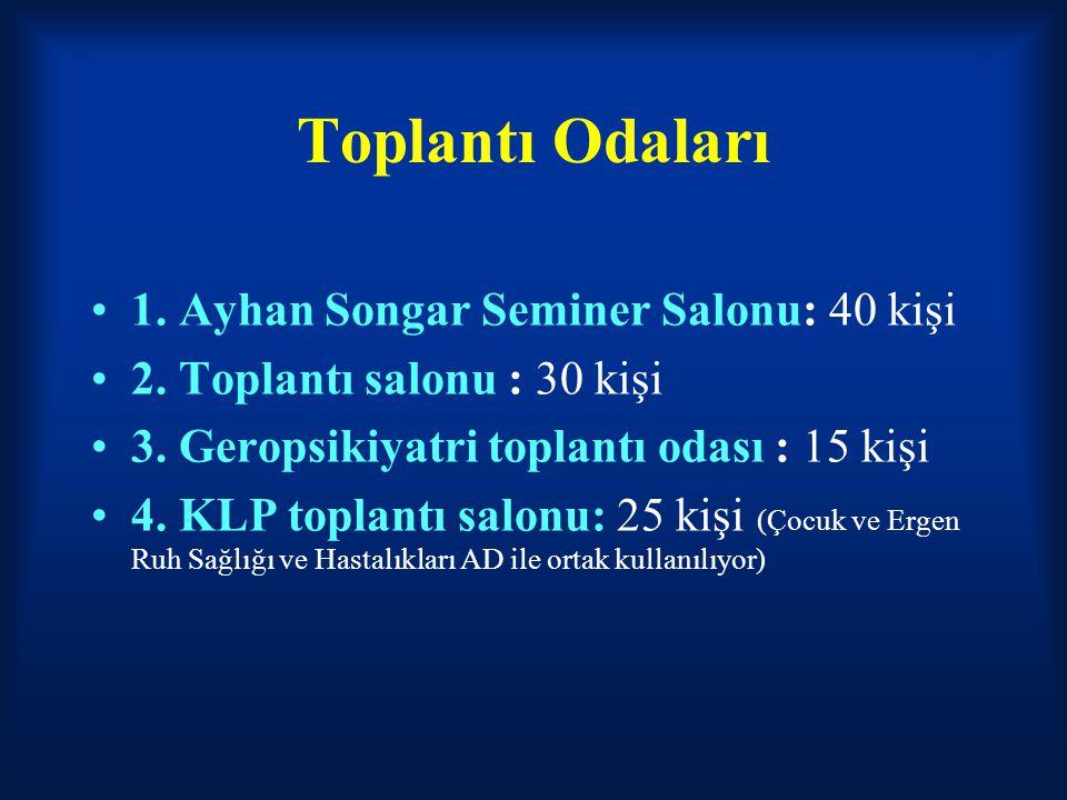 Toplantı Odaları 1. Ayhan Songar Seminer Salonu: 40 kişi