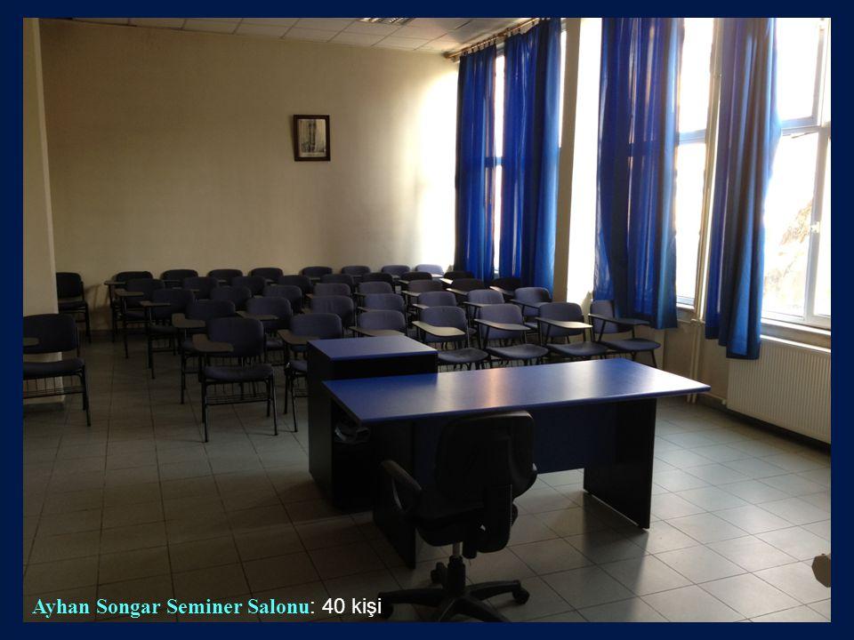 Ayhan Songar Seminer Salonu: 40 kişi