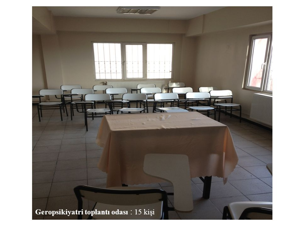 Geropsikiyatri toplantı odası : 15 kişi