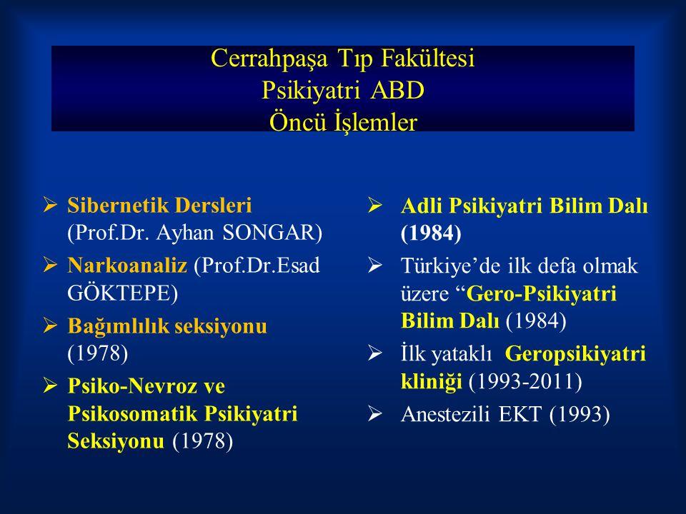 Cerrahpaşa Tıp Fakültesi Psikiyatri ABD Öncü İşlemler
