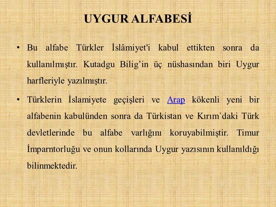 UYGUR ALFABESİ