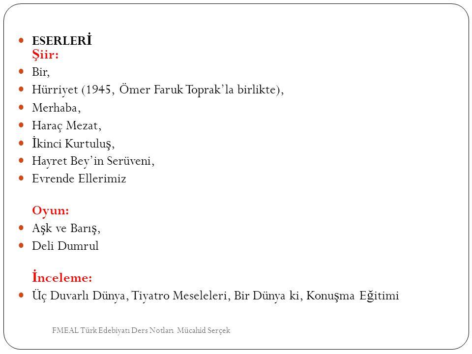 Hürriyet (1945, Ömer Faruk Toprak'la birlikte), Merhaba, Haraç Mezat,