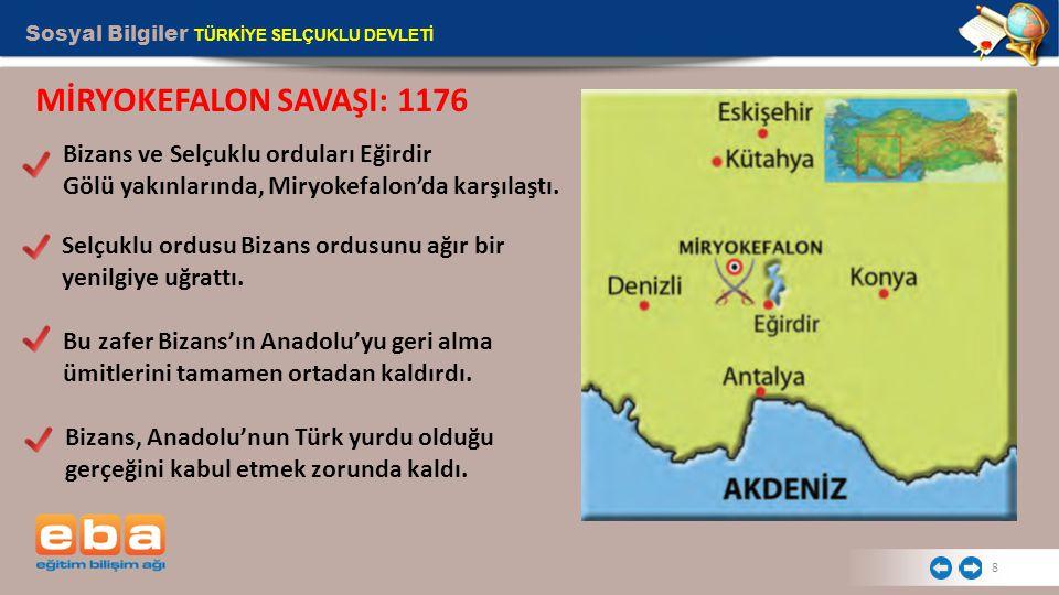 MİRYOKEFALON SAVAŞI: 1176 Bizans ve Selçuklu orduları Eğirdir