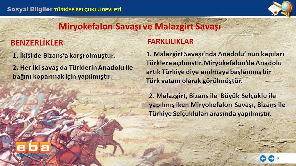 Miryokefalon Savaşı ve Malazgirt Savaşı