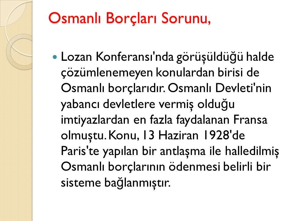 Osmanlı Borçları Sorunu,