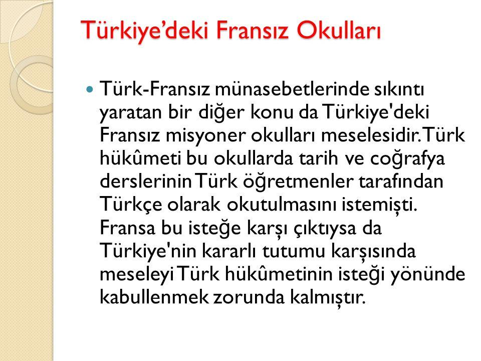 Türkiye'deki Fransız Okulları
