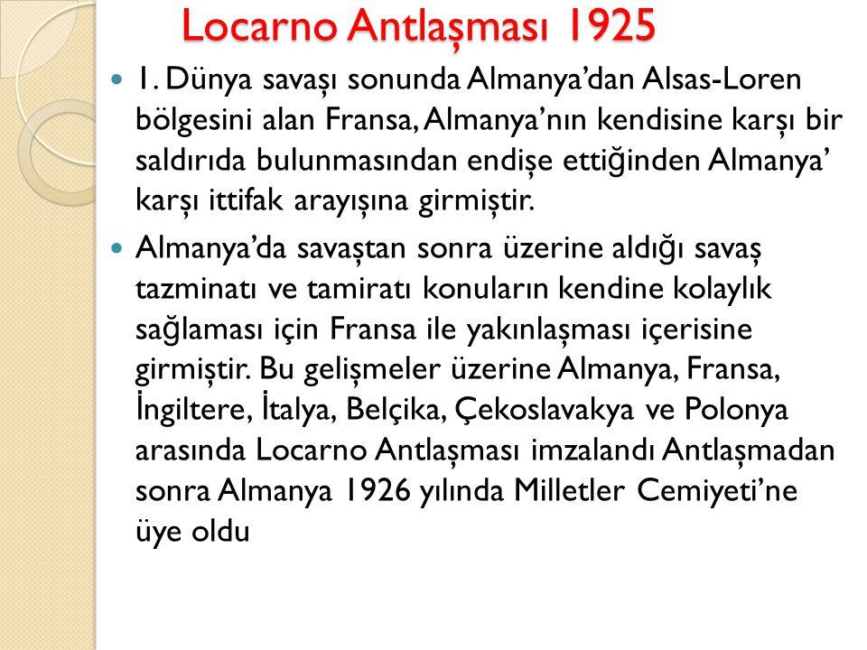 Locarno Antlaşması 1925