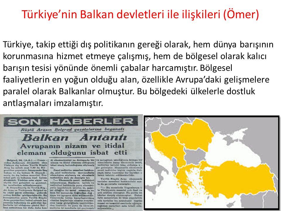 Türkiye'nin Balkan devletleri ile ilişkileri (Ömer)