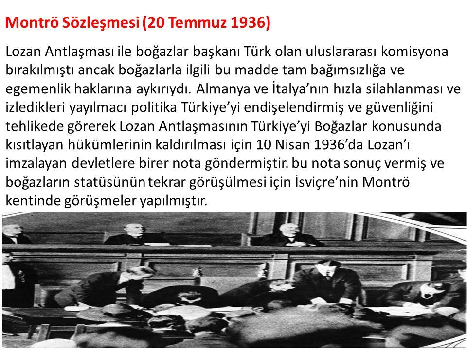 Montrö Sözleşmesi (20 Temmuz 1936)