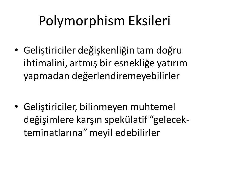 Polymorphism Eksileri