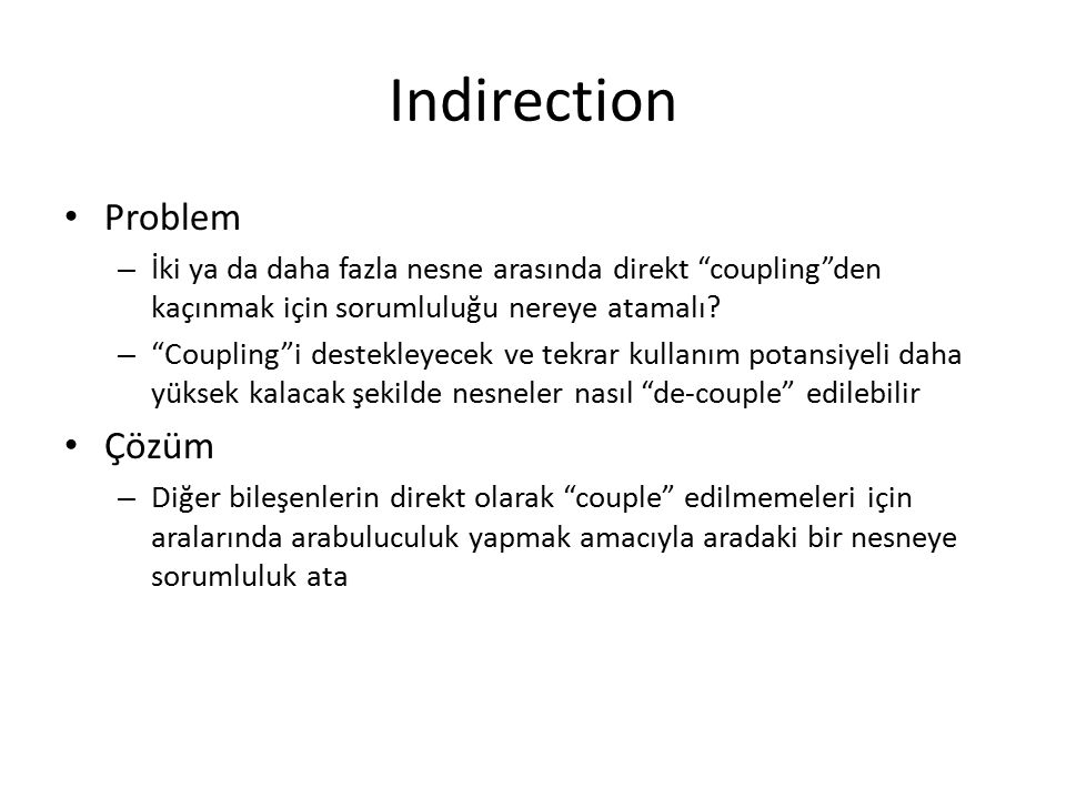 Indirection Problem Çözüm