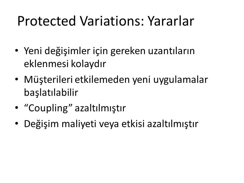 Protected Variations: Yararlar