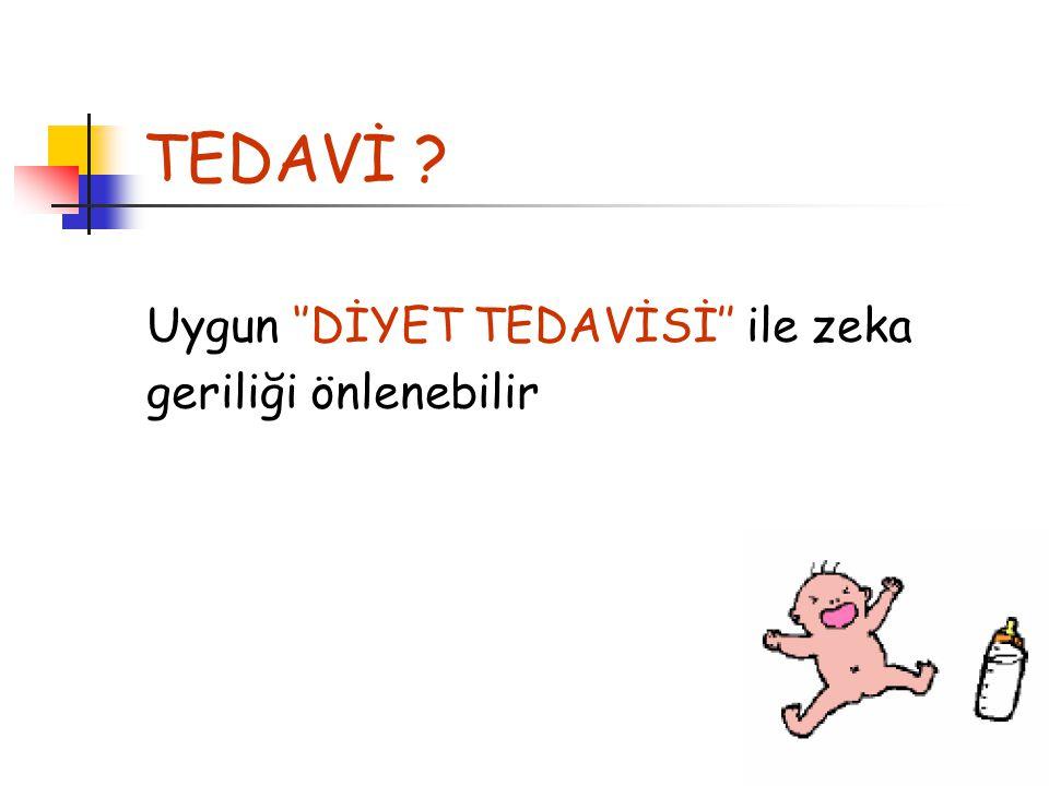 TEDAVİ Uygun ''DİYET TEDAVİSİ'' ile zeka geriliği önlenebilir