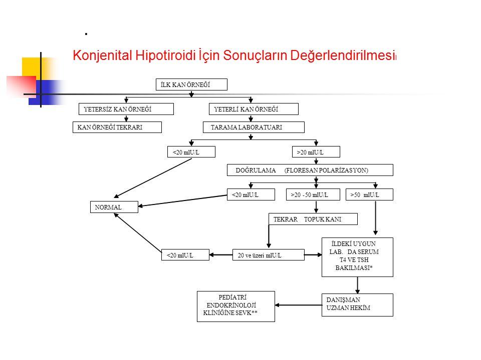 Konjenital Hipotiroidi İçin Sonuçların Değerlendirilmesil
