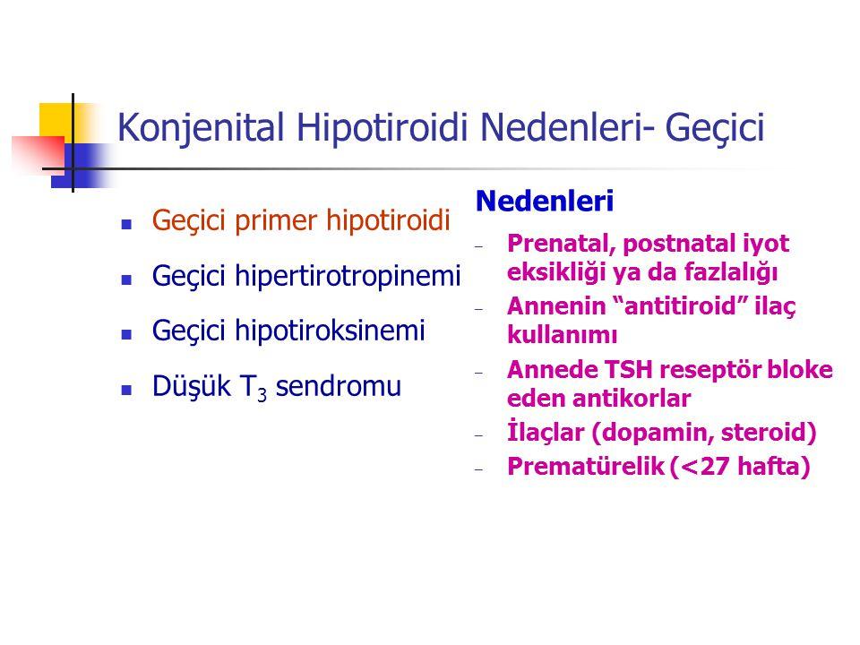 Konjenital Hipotiroidi Nedenleri- Geçici