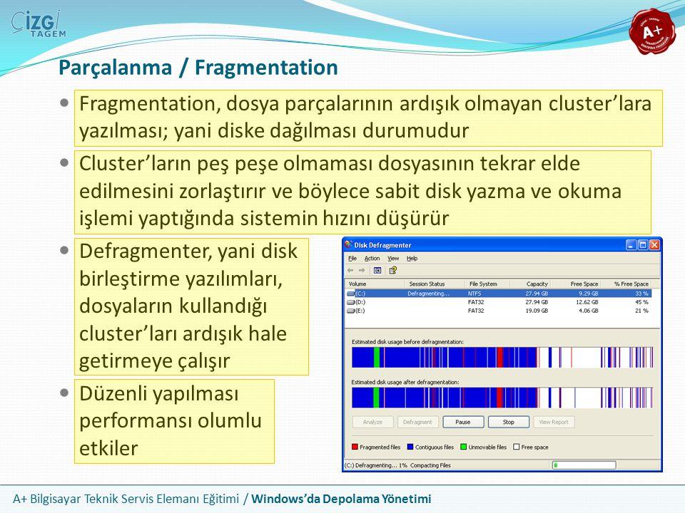 Parçalanma / Fragmentation