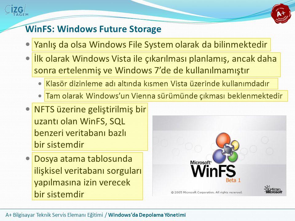 WinFS: Windows Future Storage