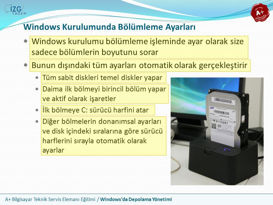 Windows Kurulumunda Bölümleme Ayarları