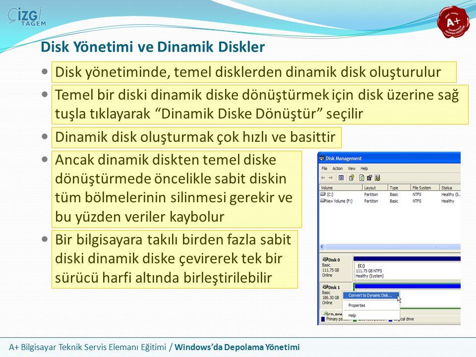 Disk Yönetimi ve Dinamik Diskler