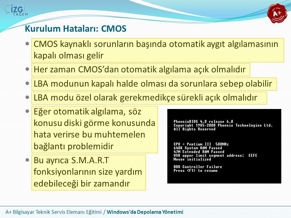 Kurulum Hataları: CMOS