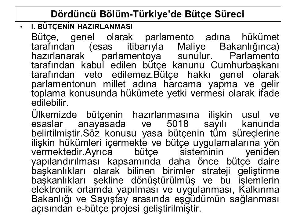 Dördüncü Bölüm-Türkiye'de Bütçe Süreci