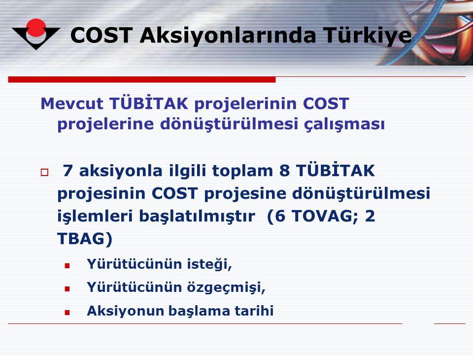 COST Aksiyonlarında Türkiye