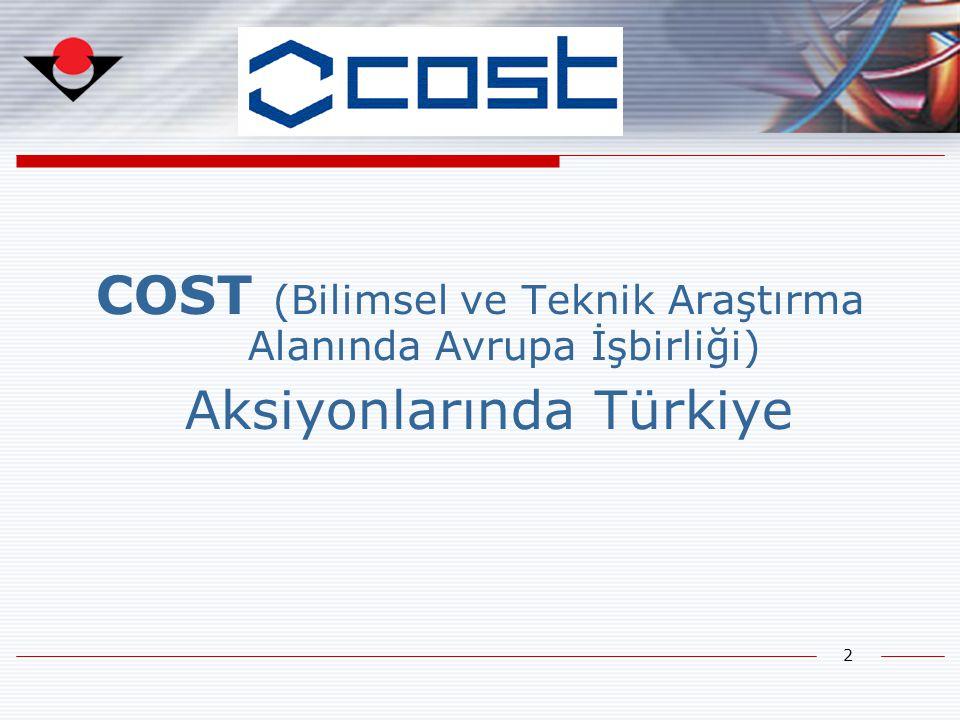 COST (Bilimsel ve Teknik Araştırma Alanında Avrupa İşbirliği)