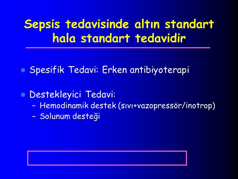 Sepsis tedavisinde altın standart hala standart tedavidir