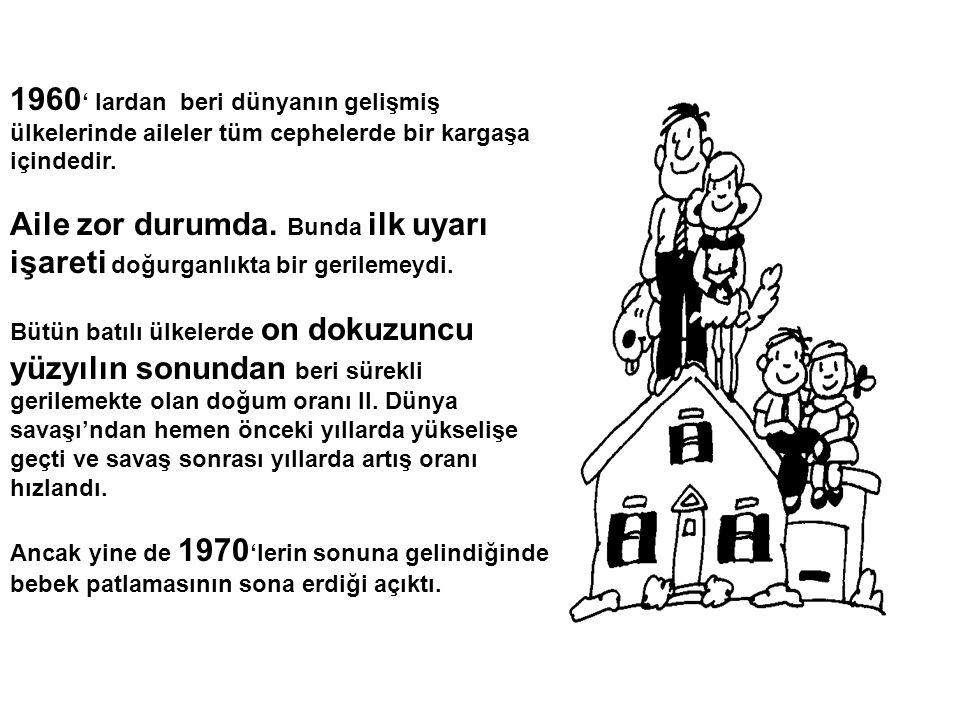 1960' lardan beri dünyanın gelişmiş ülkelerinde aileler tüm cephelerde bir kargaşa içindedir.