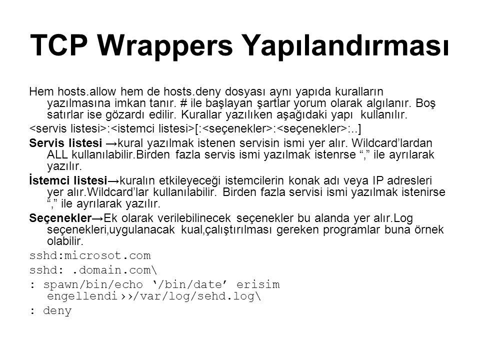 TCP Wrappers Yapılandırması