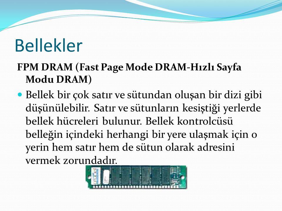 Bellekler FPM DRAM (Fast Page Mode DRAM-Hızlı Sayfa Modu DRAM)
