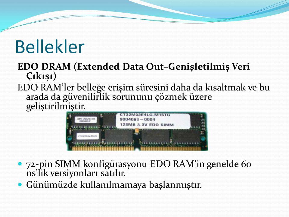 Bellekler EDO DRAM (Extended Data Out–Genişletilmiş Veri Çıkışı)