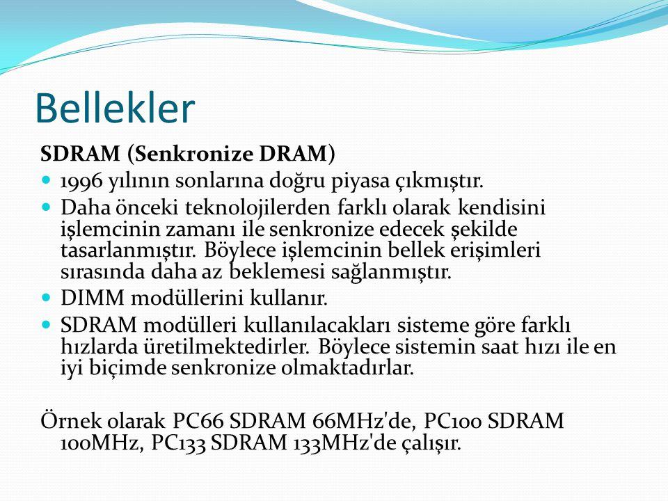 Bellekler SDRAM (Senkronize DRAM)