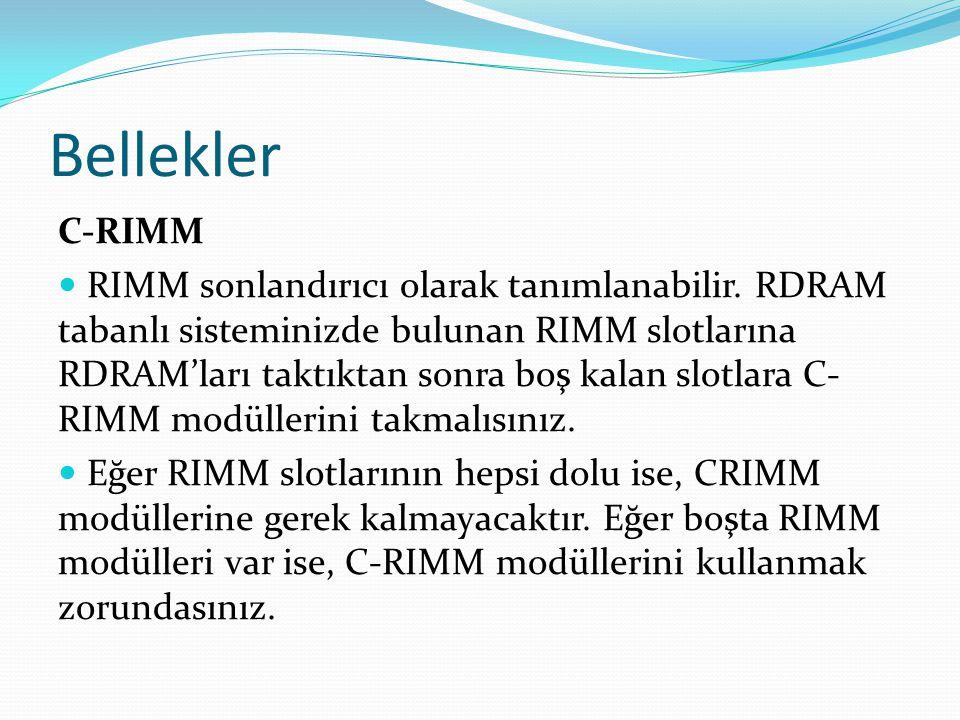 Bellekler C-RIMM.