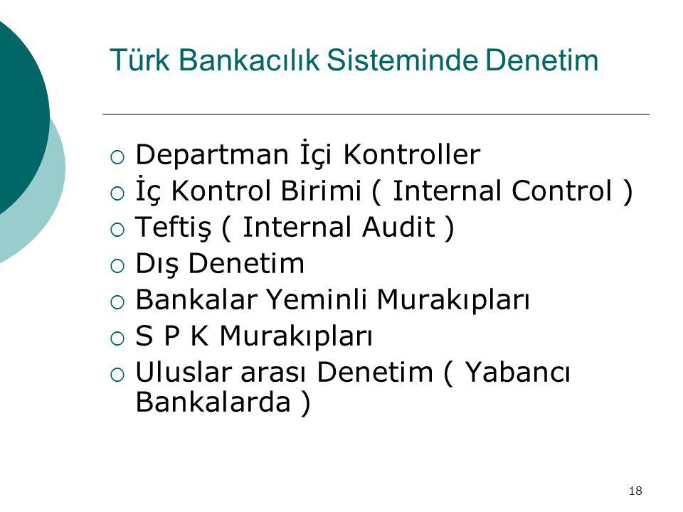 Türk Bankacılık Sisteminde Denetim