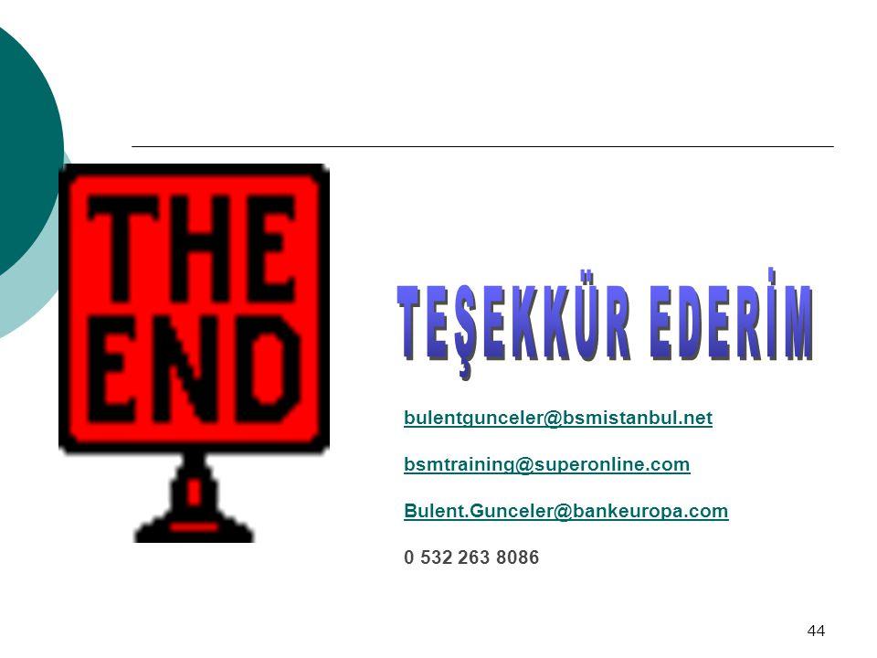 TEŞEKKÜR EDERİM bulentgunceler@bsmistanbul.net