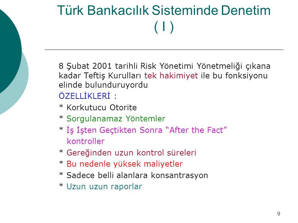 Türk Bankacılık Sisteminde Denetim ( I )