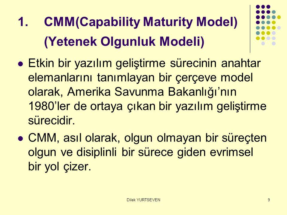CMM(Capability Maturity Model) (Yetenek Olgunluk Modeli)