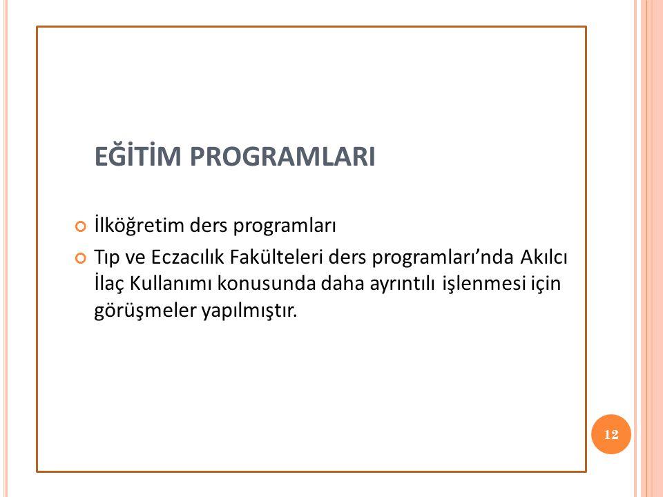 EĞİTİM PROGRAMLARI İlköğretim ders programları