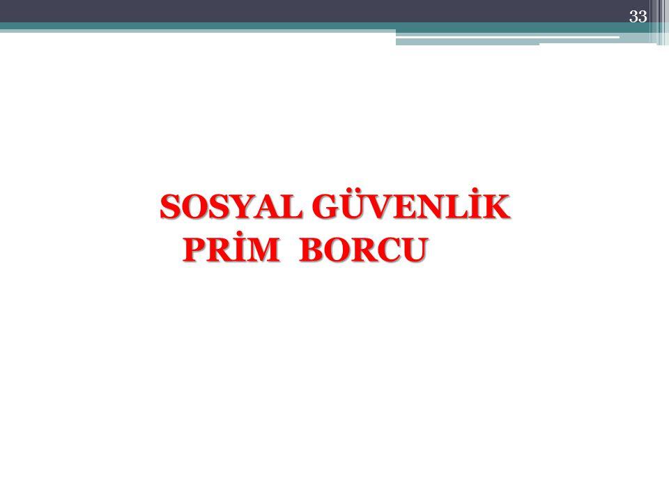 SOSYAL GÜVENLİK PRİM BORCU