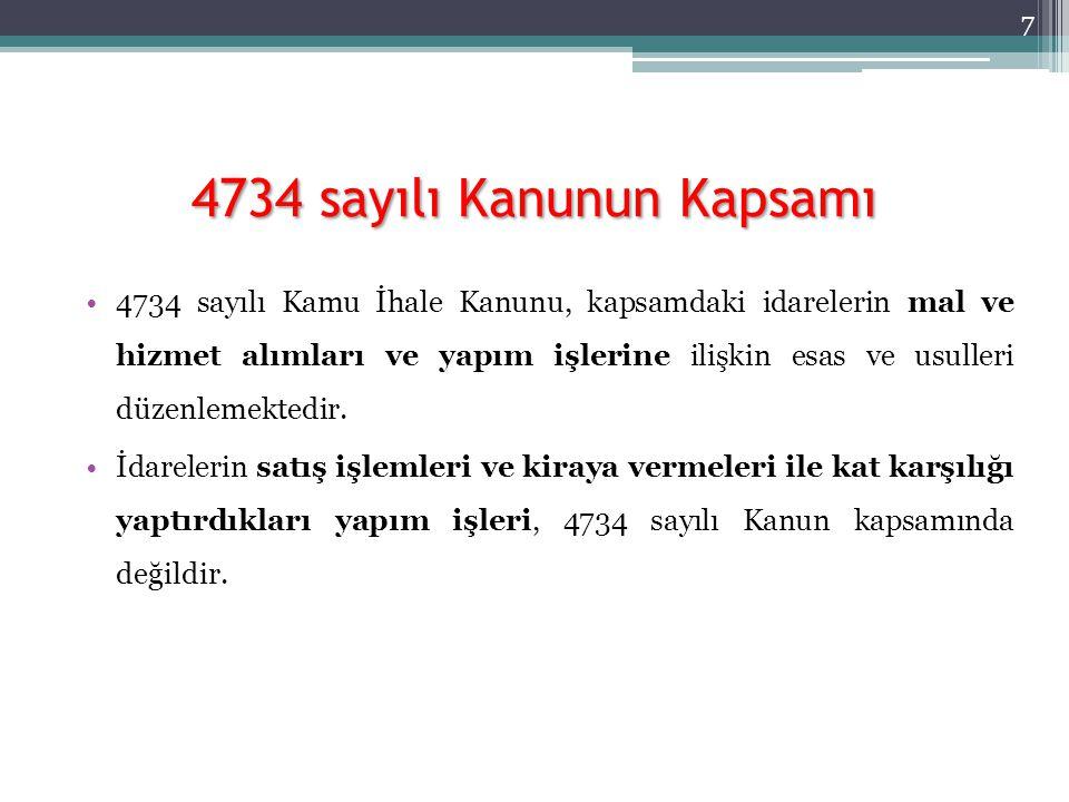 4734 sayılı Kanunun Kapsamı