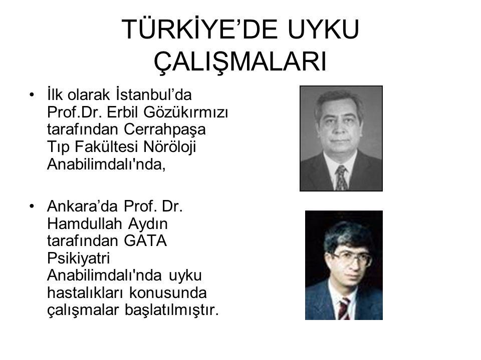 TÜRKİYE'DE UYKU ÇALIŞMALARI