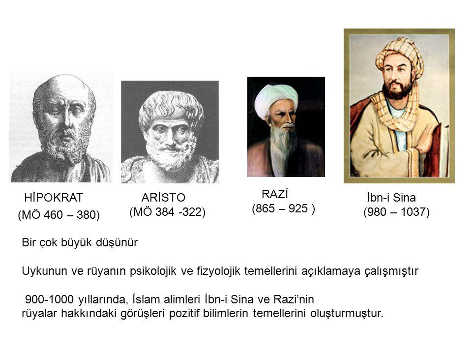 RAZİ (865 – 925 ) HİPOKRAT. (MÖ 460 – 380) ARİSTO. (MÖ 384 -322) İbn-i Sina. (980 – 1037) Bir çok büyük düşünür.