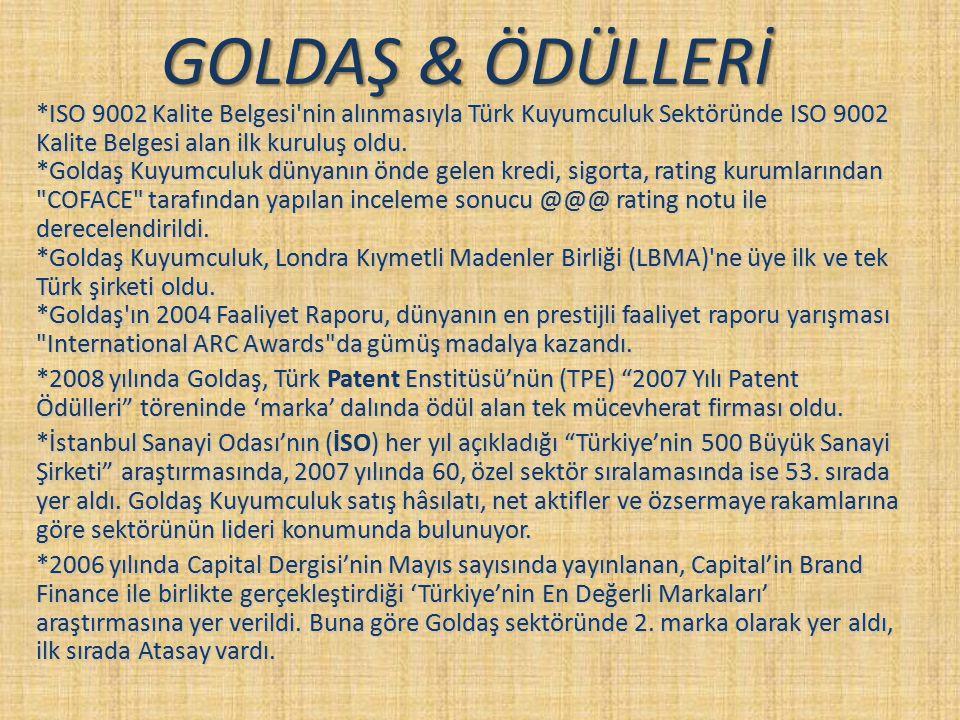 GOLDAŞ & ÖDÜLLERİ